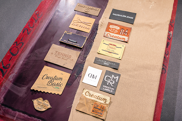 marquillas de cartón cuero jacron